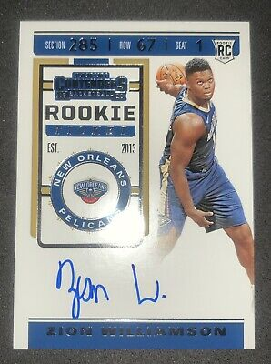$810 • Buy NO RESERVE! 2019-20 Panini Contenders Rookie Ticket ZION WILLIAMSON Auto RC