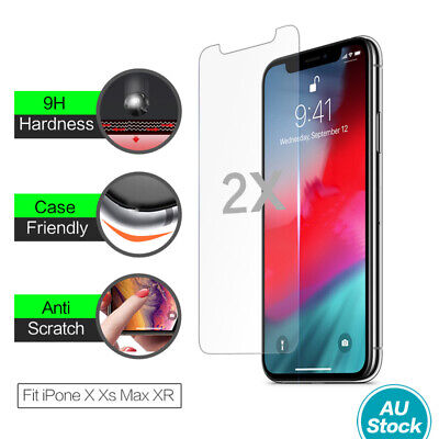 AU3.95 • Buy 2X Genuine 9H Tempered Glass Screen Protector Apple IPhone 11 Pro Max XS Max XR