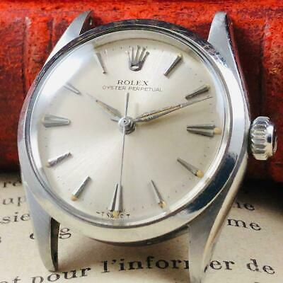 $ CDN2381.68 • Buy Excellent 1960's Vintage ROLEX Oyster Perpetual Men's Watch 28mm Silver Dial