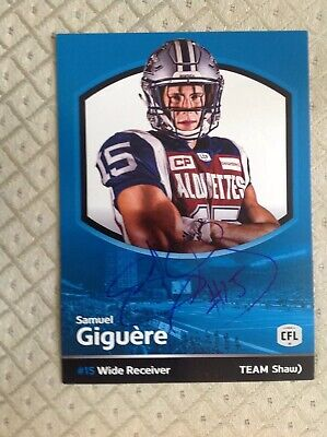 $ CDN1.99 • Buy Rare Team Shaw Signed Autograph Samuel Giguere Montreal Alouettes CFL Football