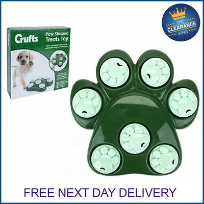 Crufts Dog Pet Fun Tough Treat Hide Puzzle Toy Food Dispenser Interactive Play • 6.99£