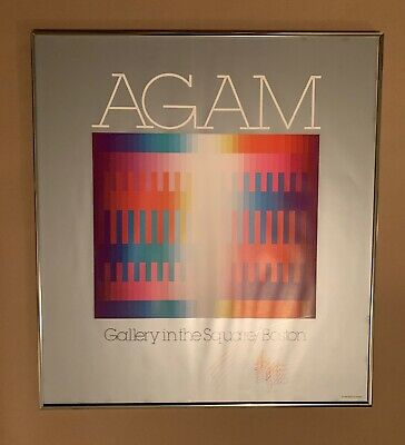 $250 • Buy Yaacov Agam, 1980 Gallery In The Square Boston, Hand Signed 5 Times