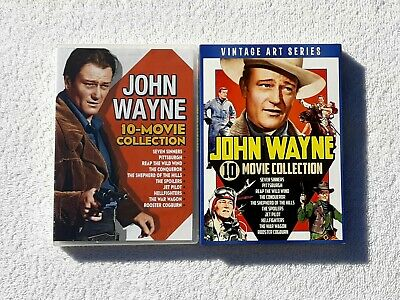 $17.99 • Buy John Wayne 10 Movie Collection DVD Rooster Cogburn War Wagon Hellfighters NEW
