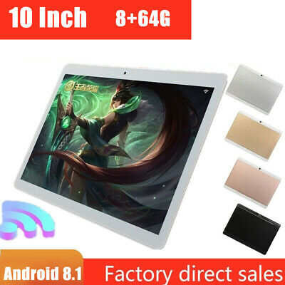 AU74.99 • Buy 10  Inch Tablet PC Android 8.1 HD 8G+64G Octa-Core Google WIFI Dual Camera GPS