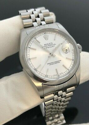 AU7500 • Buy Rolex Steel DateJust 36mm Ref.16200 Jubilee Band Complete Set
