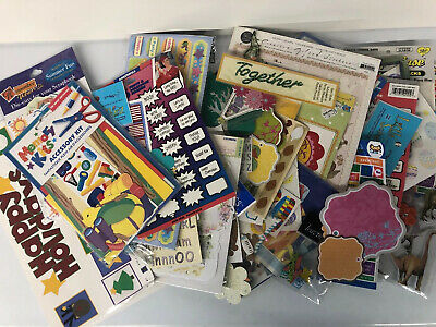 $12.50 • Buy Huge Lot Of Scrapbook Stickers, Embellishments And More New & Used