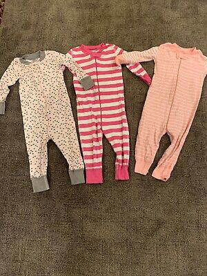 $12 • Buy Hanna Andersson Infant Baby Girl's Pajamas Lot Pink Sz 70 9-18 Months Organic
