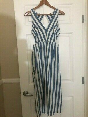 $39.99 • Buy NWOT ZARA  Blue And White Striped Dress Romper Style - US Size S Euro S-$158