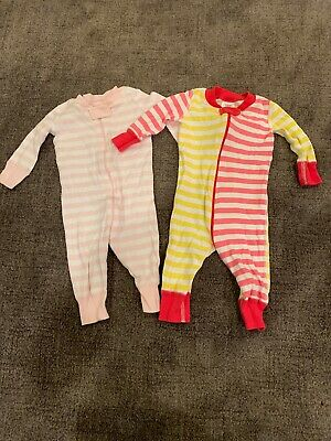 $10 • Buy Hanna Andersson Infant Baby Girl's Pajamas Sz 60 6-9 Months Organic Lot