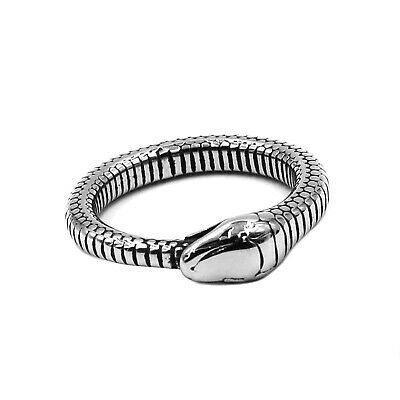 £10.12 • Buy Snake Serpent Shaped Ring Men Women Fashion Jewelry Silver Color Stainless Steel