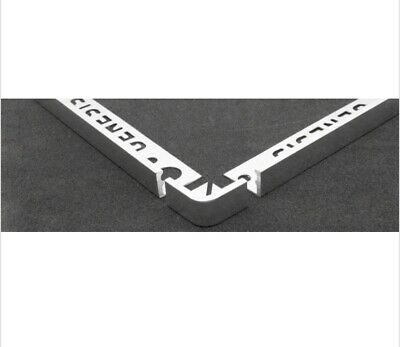 Genesis Chrome Or Brushed Steel Tile Trim Metal Corner Straight Edge 2 Pack • 11.50£