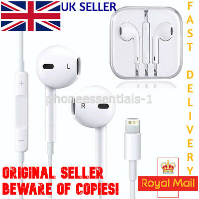 Bluetooth Lightning Earphones Headphones Mic For Apple IPhone 7 8 Plus X XR IPad • 5.95£