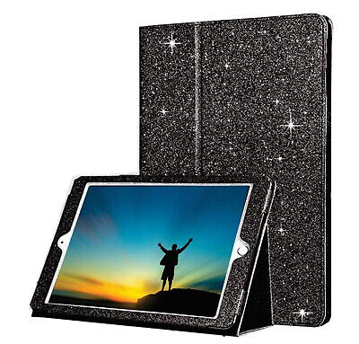 £6.25 • Buy Glitter Bling PU Leather Black Book Case Cover For Apple 2nd 3rd 4th Generation