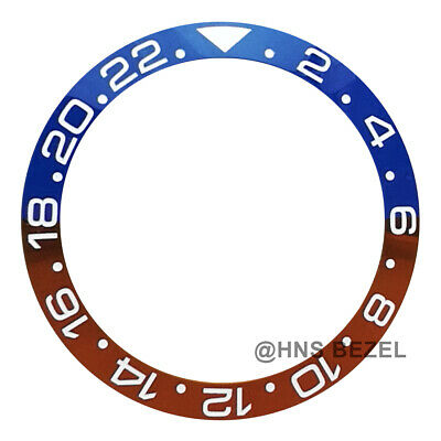 $ CDN76.05 • Buy Ceramic Bezel For Rolex 40mm Gmt-master Ii Pepsi Blue Red White Numbers Engraved