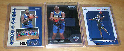 $5.50 • Buy 2019 Panini Prizm Zion Williamson Relic Jersey Rookie Lot W/(2) Hoops Rc.'s!!