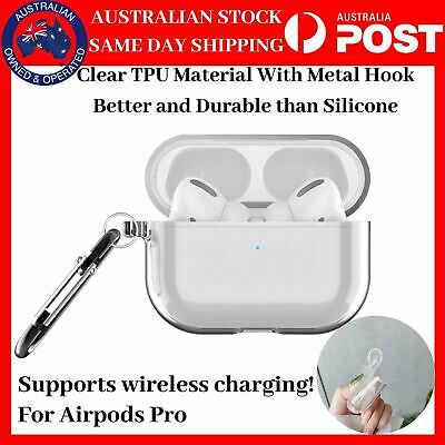 AU6.99 • Buy Shockproof For Apple AirPods Pro Case Cover Clear TPU Transparent Holder Hook