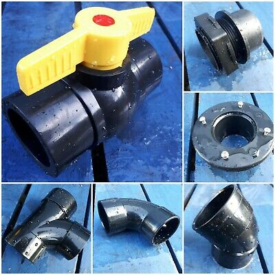 2 Inch 50mm Solvent Weld Pipe Fittings Koi Pond Filter Fish Various Kockney  • 15.95£