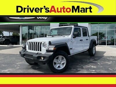 $41620 • Buy 2020 Jeep Gladiator Sport S 2020 Jeep Gladiator Sport S 10 Miles Bright White Clearcoat 4D Crew Cab 3.6L V6