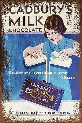 £7.49 • Buy Cadbury's Dairy Milk Advert Vintage Look Retro Style Metal Sign, Chocolate Bar