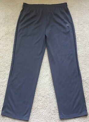 $14.99 • Buy Mens NWT Tek Gear Gray Easy Fit Straight Leg Athletic Piped Tricot Track Pants L