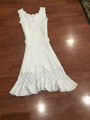 $10.50 • Buy Lilly Pulitzer White Knit Size Extra Small Dress. Excellent Condition