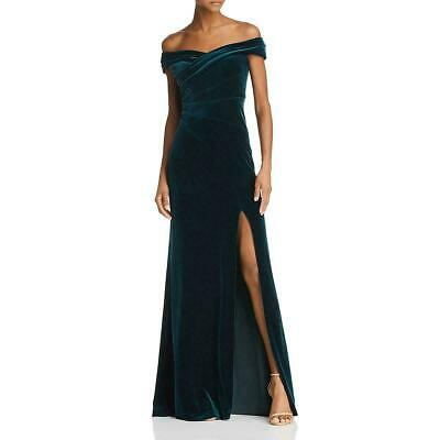 $89.99 • Buy Aidan Mattox Off-the-Shoulder Velvet Gown MSRP $295 Size 8 # 9NA 161 NEW