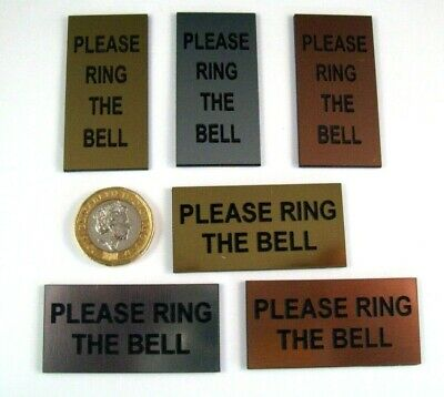 £2.75 • Buy 1''x2'' Or 2''x1'' 'PLEASE RING THE BELL' Sign Portrait Or Landscape, 3 Colours