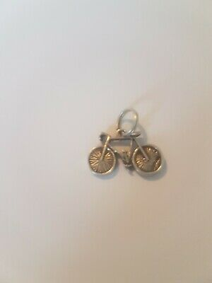 Sterling Silver Cycle Push Bike Charm • 9.50£