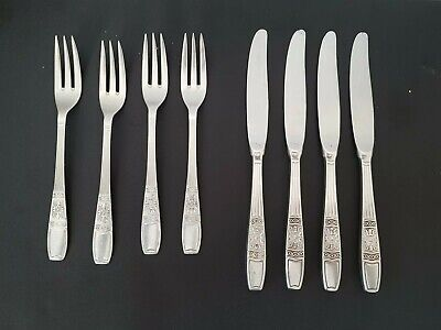 £18 • Buy Vintage Set Of 4 Silver Plated Cooper Brothers & Sons Dinner Knives & Forkes