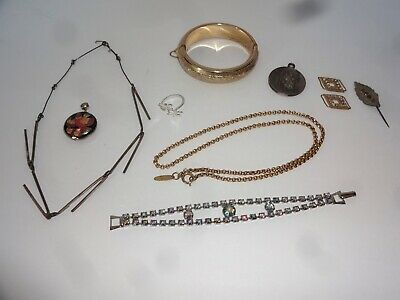 $ CDN2.62 • Buy Jewelry Lot Some Vintage Sterling Silver Whiting Davis Necklace Rhinestone ++