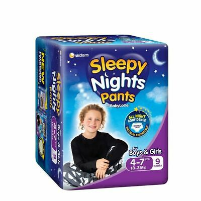 AU10.99 • Buy Babylove Sleepy Nights Overnight Pants Sizes 4-7 Years