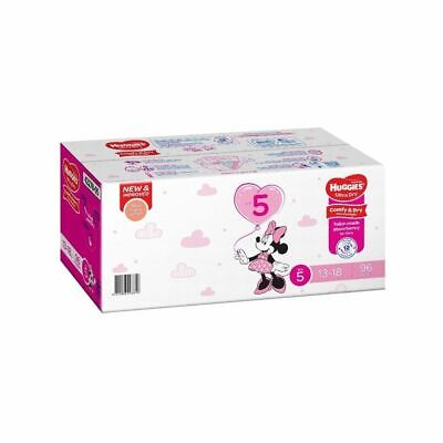 AU39.99 • Buy Huggies Nappies Walker Size 5 Girl Mega 96 Pack