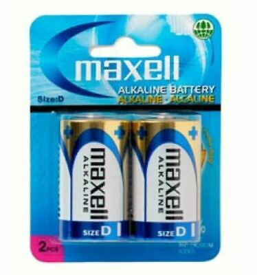 AU5.95 • Buy Maxell D Batteries 2 PACK