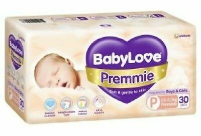 AU15.29 • Buy Babylove Nappies Premmie Size 30 Pack