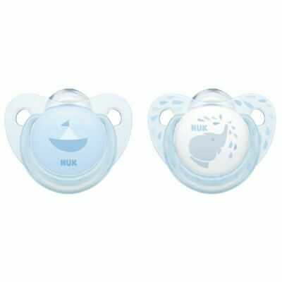 AU12.95 • Buy NUK Soother - Baby Blue - 0-6 Months - 2 Pack