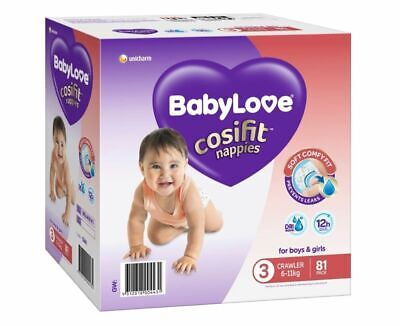 AU23.99 • Buy BabyLove Nappies Jumbo Pack Crawler 81 Pack