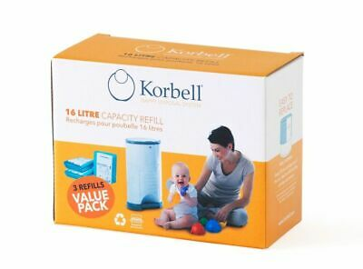 AU39.95 • Buy Korbell Nappy Disposal Refill 3 Pack