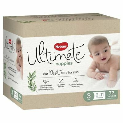 AU22.99 • Buy Huggies Ultimate Nappies Jumbo Crawler Size 3/6-11kg 72 Pack