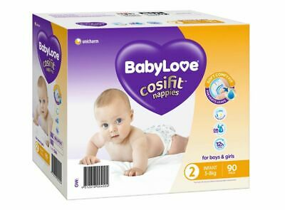 AU23.99 • Buy BabyLove Nappies Infant Jumbo 90 Pack