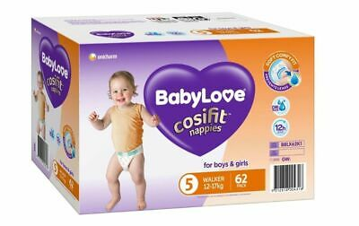 AU22.99 • Buy BabyLove Nappies Jumbo Pack Walker 62 Pack