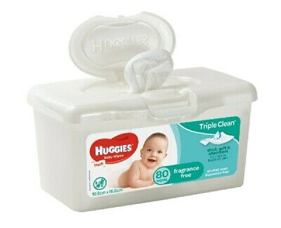 AU6.49 • Buy Huggies Baby Wipes Tub Fragrance Free 80 Pack