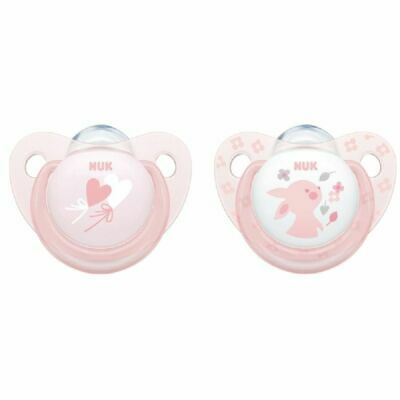 AU12.95 • Buy NUK Soother - Baby Rose - 0-6 Months - 2 Pack