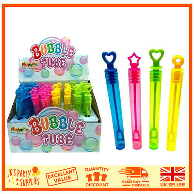 £4.49 • Buy Childrens Kids Girls Boys Bubble Tubes Tubs Party Bag Fillers Wedding Favours