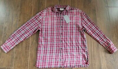 $19.95 • Buy NWT ZARA MAN Red Black Gray White Plaid Button Up Dress Shirt Relaxed Fit Large
