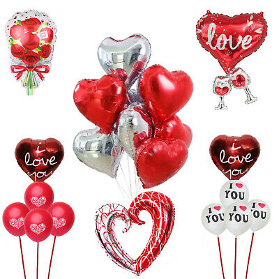 AU4.99 • Buy Valentines Day Gifts, Love Heart Balloons, Valentines Day Decorations, Wedding
