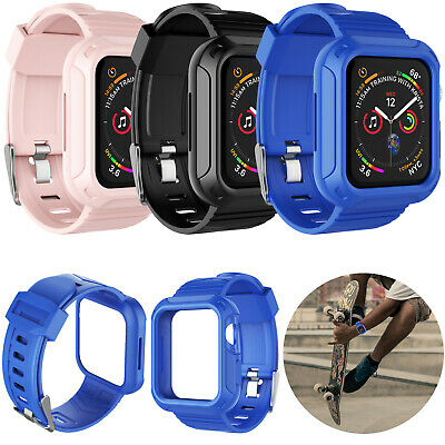 $ CDN9.66 • Buy For Apple Watch Series 4/5 Rugged Sports Case And Band 40mm 44mm Strap Women Men
