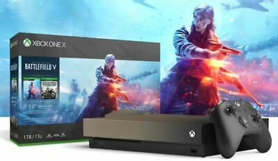 $168 • Buy Xbox One X 1 TB Gold Rush Special Edition - Battlefield 5 Bundle