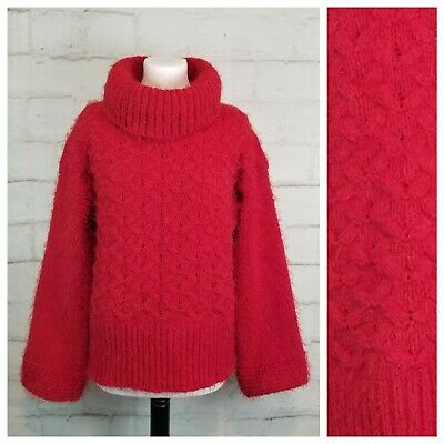 $ CDN34.95 • Buy Sleeping On Snow Anthropologie M Red Oversized Cowl Neck Heavy Knit Sweater