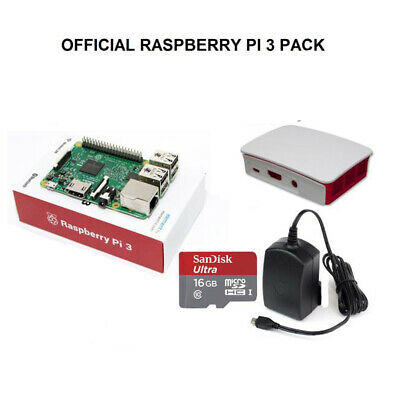 AU70 • Buy NEW Raspberry Pi 3 Model B The Official Pack 16GB NOOBS Power Supply Case