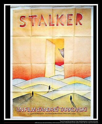 $1389 • Buy STALKER Tarkovsky 4x6 Ft Vintage French Grande Movie Poster Original 1979